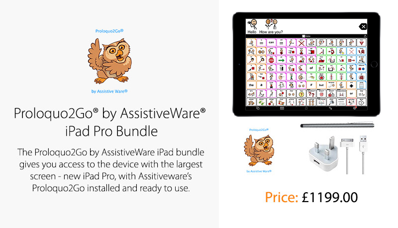 Proloquo2Go® by AssistiveWare® iPad Pro Bundle