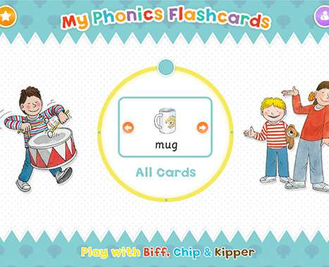 Biff chip & kipper phonics flashcards
