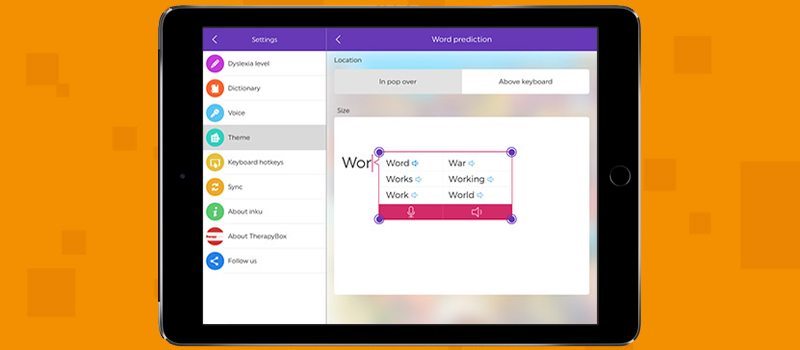 Dyslexia support app