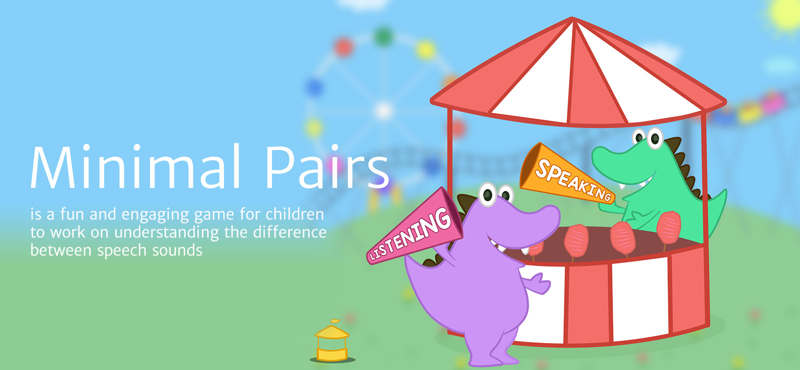 Speech sound app for minimal pair therapy