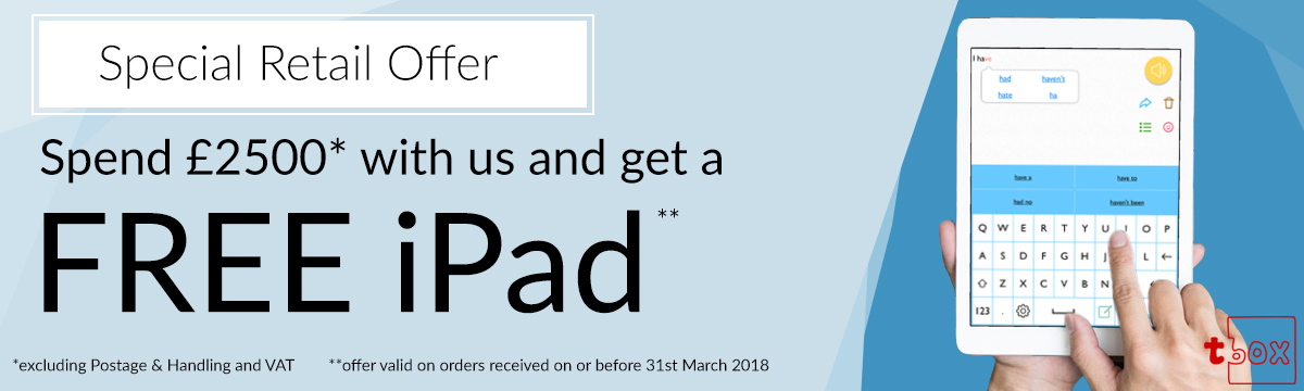 free iPad with orders over 2500 pounds.