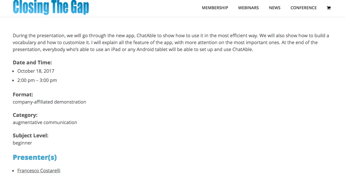 ChatAble3 will be launched in the US at Closing The Gap