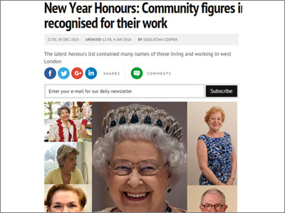 New Year Honours: Community figures in west London recognised for their work