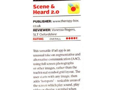 Scene & Heard featured in Royal College of Speech and Language Therapists Magazine
