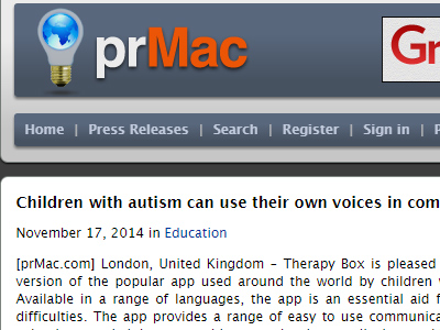 Children with autism can use their own voices in communication aid app