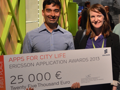 Apps for household solar-system monitoring and communication for disabled win top prizes in Ericsson Application Awards 2013