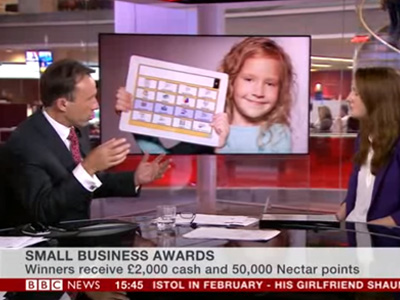 BBC News interview with Rebecca Bright - Nectar Small Business Awards